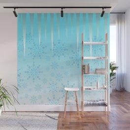 Blue Winter Wonderland Wall Mural