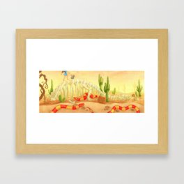 The Deadly Desert Framed Art Print