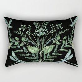 Dragonfly Foliage Rectangular Pillow