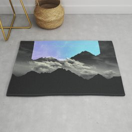 echo mountains Blue Rug
