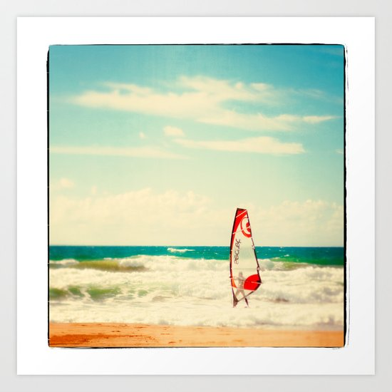 Time to surf 2 Art Print