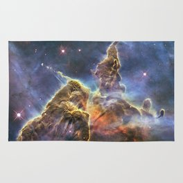 carina carina and her fuzzy psychedelia | space #12 Rug