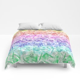 Crystal Gemstone Background Pattern - Geodes + Quartz Points Comforters