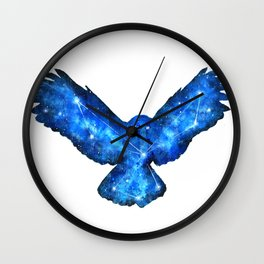 Space Owl | Double Exposure Owl | Owl Constellation | Cosmic Owl Wall Clock