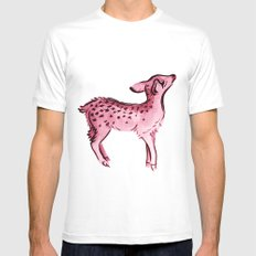 Fawn White MEDIUM Mens Fitted Tee