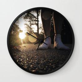 Louisiana Asphalt & White Socks Wall Clock