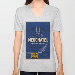 Vintage poster - Neuchatel Unisex V-Neck