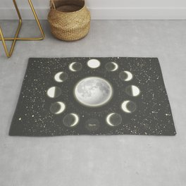 Telescope Dreamy Shine-Phases of the Moon Rug