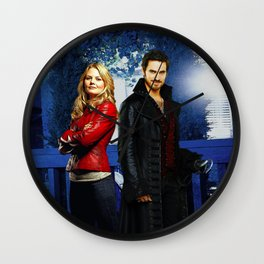 """""""Some Heroes Wear Leather Jackets"""" Wall Clock"""