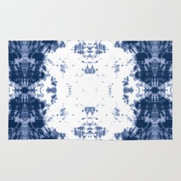 Shibori Tie Dye 5 Indigo Blue Rug
