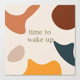 Time to wake up pastel design Canvas Print