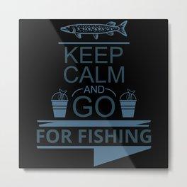 Funny design for fishermen and anglers Metal Print