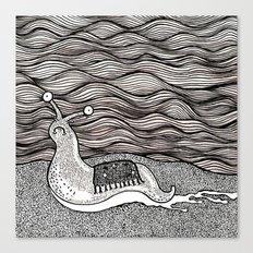 Sad snail Canvas Print