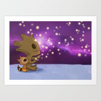 Nighty-night, Rocket! Art Print