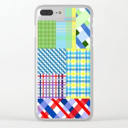 Crazy Plaid Spring Clear iPhone Case