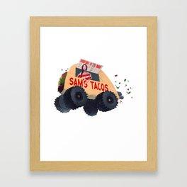 Sam's Monster Taco Truck Framed Art Print