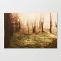 forrest Canvas Prints featuring Forrest by Terri Ellis