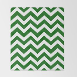 Emerald green - green color - Zigzag Chevron Pattern Throw Blanket