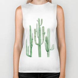 Three Amigos White + Green by Nature Magick Biker Tank
