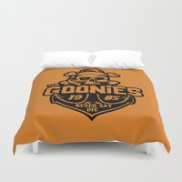 the goonies Duvet Covers featuring The Goonies black by Buby87