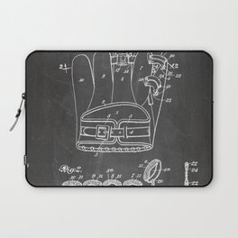 Baseball Glove Patent - Baseball Art - Black Chalkboard Laptop Sleeve
