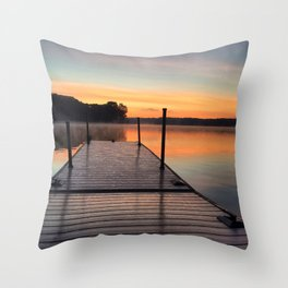 Off the Dock Throw Pillow