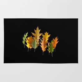 Variety coloured autumn oak leaves Rug