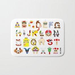 Super Mario Alphabet Bath Mat