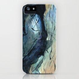 Labradorite Crystal Watercolor iPhone Case