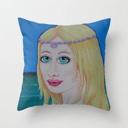 Sea Princess by Soozie Wray Throw Pillow