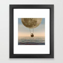 DREAM BIG/MOON CHILD SWING Framed Art Print