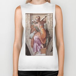The Libyan Sybil Sistine Chapel Ceiling by Michelangelo Biker Tank