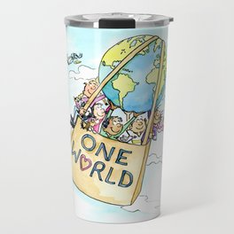 One World Together Eco Art Travel Mug