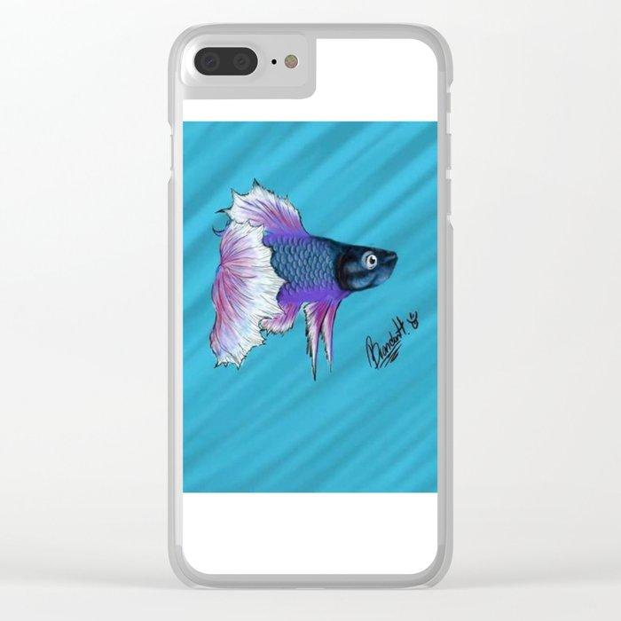 Beta Fish Clear iPhone Case