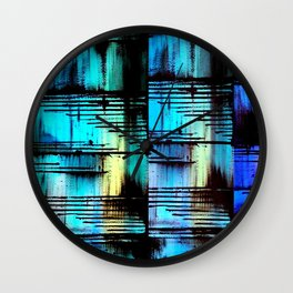 Blue Friends (7) Wall Clock