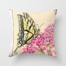 Collette's butterfly Throw Pillow