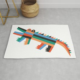 Animal friends chilling with potted plants by Matt Clinard Rug