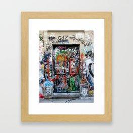 Parisian Graffiti Framed Art Print