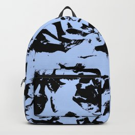 Blue Black Pattern Military Camouflage Backpack
