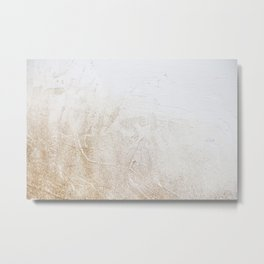 Gold Glitter Detail Metal Print