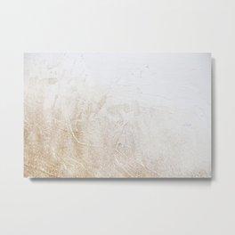 Gold Glitter Detail Metal Print