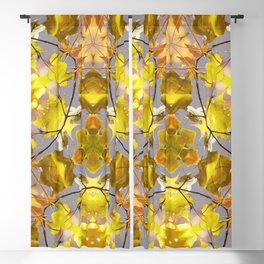 Yellow Fall Leaves Blackout Curtain