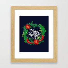 Feliz Navidad Framed Art Print