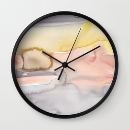 8    | Abstract Minimal Watercolor Painting | 191223 Wall Clock