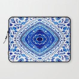 Indigo Mandala Tapestry Pattern 2 Laptop Sleeve