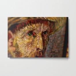 Vincent van Gogh's Eyes portrait painting Metal Print