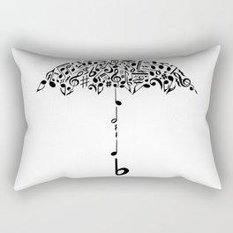 Musical Umbrella Art Rectangular Pillow