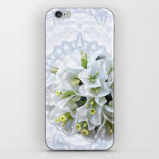 pretty bouganvillea on delicate kaleidoscope iPhone & iPod Skin