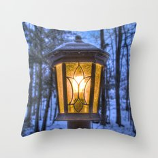 Frozen Lantern Throw Pillow
