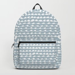 Blush blue white watercolor geometrical wave zigzag pattern Backpack